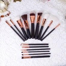 Professional Brand 15 PCS Makeup Brushes Set Powder Foundation Eyes shadow Eyebrow Brush Free Shipping