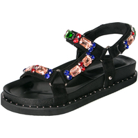 Kjstyrka Casual Rhinestone Summer Shoes Woman Wedges Casual shoes Flip Flops Platform Sandals Thick Soled Women Summer Shoes