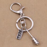 Hot Movie The Walking Dead Keychain Metal Stick And Letters Pendant Keyring Key Chain Ring Jewelry