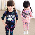 2017 Children's Aautumn Clothing Kids Set Girls Cotton STAND UP Long-Sleeve Clothes Baby Girl Fashion Casual Sweatshirt Wear