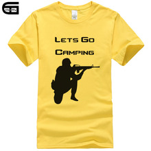 2018 New Brand Tee CS GO T Shirt Lets Go CSGO TShirt Men Casual Games Team Funny T-Shirt Summer Cotton Printed Tops T295