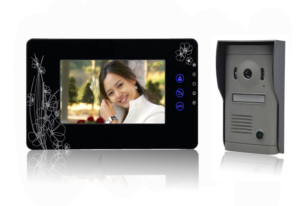 7 Inch Big LCD Monitor 600TVL Intercom Video Door Phone