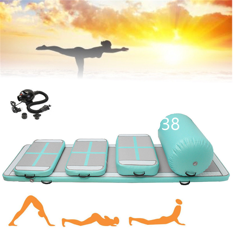 Fast Delivery A Set 6 Pcs Inflatable Air Track Mat Trampoline Inflatable Air Tumble Track Inflatable Gym Mat  Come With a PumpFast Delivery A Set 6 Pcs Inflatable Air Track Mat Trampoline Inflatable Air Tumble Track Inflatable Gym Mat  Come With a Pump