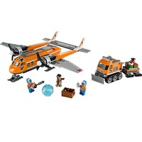 391PCS Arctic Supply Plane Compatible Legoe City Arctic 60064 Bricks Building Blocks Model toys for Childrens Kids Gift