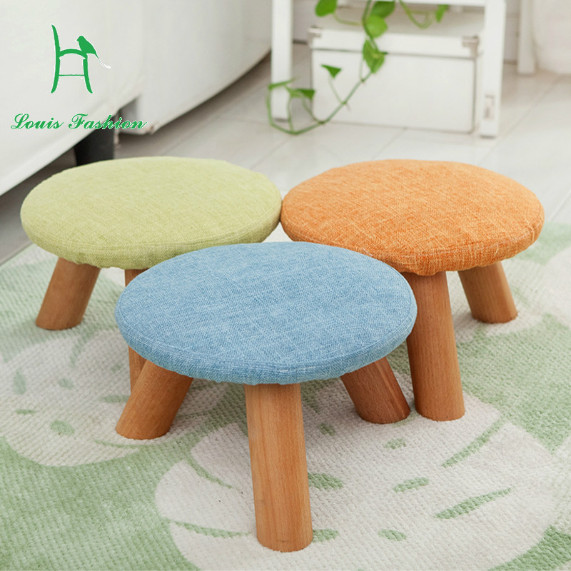 Marvelous Us 14 0 A Low Stool Mushroom Cloth Wood Small Stool Creative Children Lovely Wooden Stool Household Living Room In Children Chairs From Furniture On Customarchery Wood Chair Design Ideas Customarcherynet