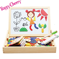 Happy Cherry Family Education Wood Cartoon Magnetic Puzzle Writing Drawing Toys Board Wooden Children Kid Child Birthday Gift