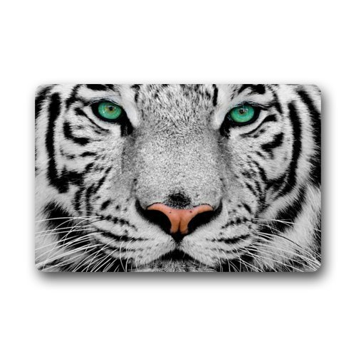 Cool White Tiger Face Animal Doormats Entrance Mat Floor