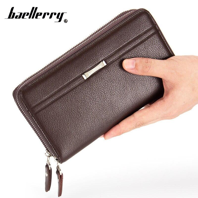 Baellerry Phone Handy Clutch Money Bag Men Wallet Male Coin Purse Cuzdan For Baellery Wristlet Men Portomonee Walet Perse Vallet