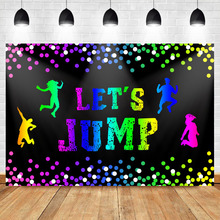 NeoBack Let's Jump Trampoline Birthday Backdrop Bounce House for Children Birthday Celebration Decoration Background Photography цена в Москве и Питере