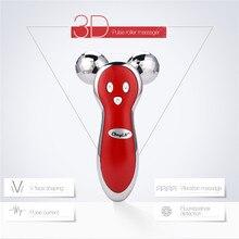 3D mikro prąd V twarzy Lifting twarzy ujędrniający pełny wyszczuplający masażer do ciała 360 stopni obrót masaż rolki Pulse Beauty Tool49