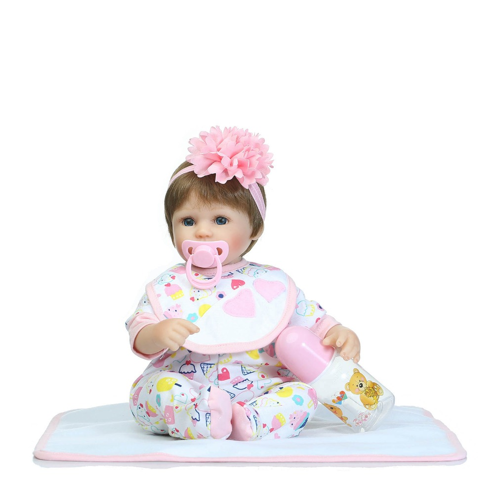 ФОТО Baby Doll Reborn 2017 Cotton Body Babies Born Doll Silicone Brinquedos For Girls Baby Alive Toys Birthday Gift Baby-reborn Doll