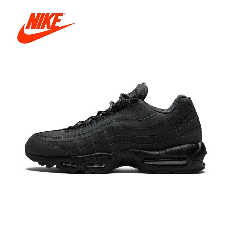 Оригинальный новый мужские черные кроссовки Nike Air Max 95 Essential Для мужчин s кроссовки открытый воздухопроницаемая комфортная обувь спортивные