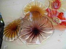 Free Air Shipping Pretty Light Fashion Pattern Hand Blown Art Glass Wall Plates