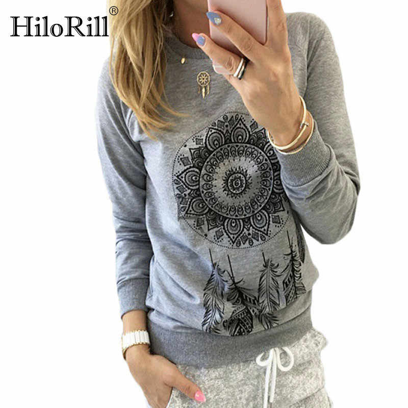 2019 Autumn Women Sweatshirt Casual Long Sleeve O Neck Print Pullover Jumper Hoodies Sweatshirts Fashion Tops Sudaderas Mujer