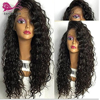 EAYON Curly Glueless Full Lace Human Hair Wigs Brazilian Remy Hair Wig With Baby Hair Preplucked Hairline Bleached Knots 130%