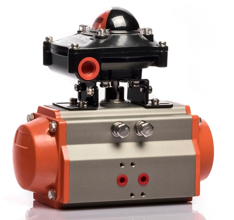 Double Acting Aluminum Material Pneumatic Actuator AT-50D With APL 210N Limit Switch