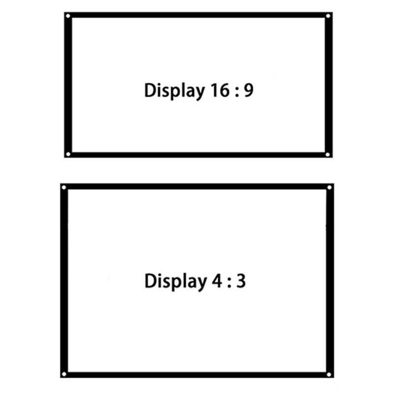 Thinyou 150inch 16: 9 Ekrani i Projektorit Edge Finished Edge Perde e - Audio dhe video në shtëpi - Foto 6