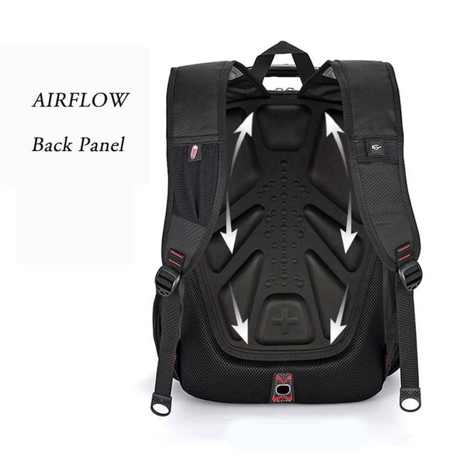 Swiss Multifunctional Travel laptop Backpack Men SchoolBags Students Business Rucksack 17 inch Computer bagpack waterproof 5