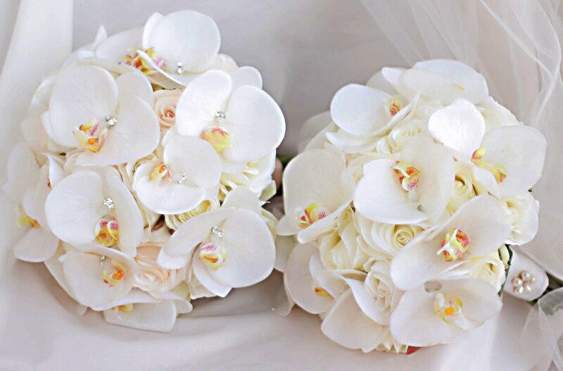 JaneVini Bouquet de Boda Occidental para Novias Flores Artificiales - Accesorios de boda - foto 6