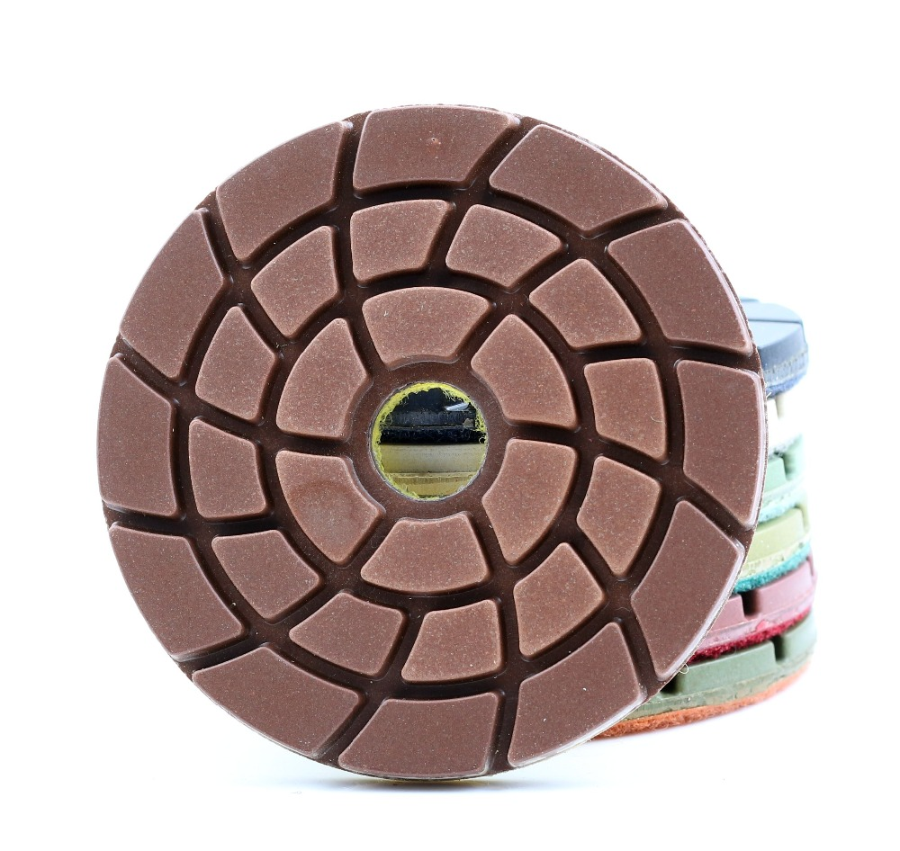 DC-TDFL01 Diamond 4 Inch 100mm Diamond Floor Polishing Pads For Granite,marble And Concrete Floor