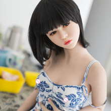 Ailijia 155cm lifelike sex doll flat chest small breast sex doll realistic for men real silicone doll