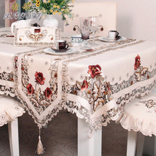 Dark European pastoral embroidered tablecloth, table flag, chair cover, coffee cloth, tablecloth