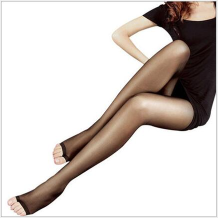 Sexy Womem Pantyhose Tights With Open Fingers Nylon Open-Toed Ultra-Thin Breathable Stocking Meia Calca 4 Colors Fashion CI230