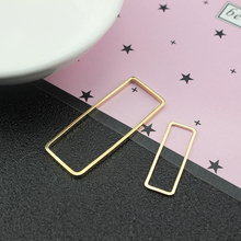 korean copper alloy  fashion statement earrings geometric earrings for women girl's rectangular diy accessories jewelry material free shipping fashion women new jewelry wholesale wood combination geometric rectangular earrings for women
