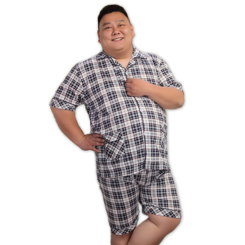 Underwear & Sleepwears Reasonable 5xl Blue Short Pajamas For Men Pyjamas Sets Summer 100% Cotton Shorts Sexy Sleepwear Pijamas Hombre Homens Xxxxxl Plus Size Men's Pajama Sets