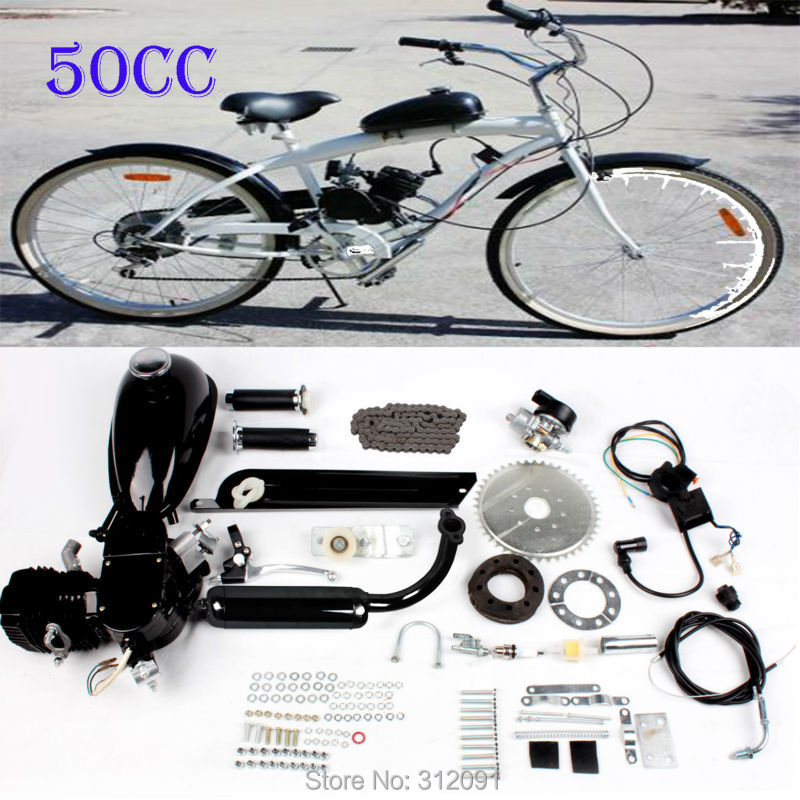 (Ship from EU) DIY 2 Cycle Petrol Gas 50cc Motorized Bike Motor Bicycle  Engine kit 2stroke 48cc