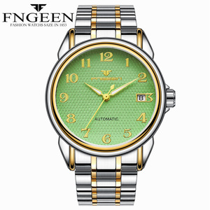 Image 4 - Relogio Masculino Luminous FNGEEN Mens Skeleton Watches Steampunk Fashion Automatic Skeleton Mechanical Wrist Watches Male Clock