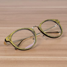 328d1ded93c Cubojue Women s Glasses Men Myopia Eyeglasses Frame Female for Optical  Prescription Vintage Wooden Grain Round Nerd Points