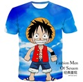 2017 3d print pokemon One Piece DRAGON BALL Naruto Summer Style Short Sleeve Children's Tshirt Teens Boys Clothes 14-21Y