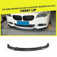 Carbon Fiber Front Bumper Lip Spoiler Schürze Splitter für BMW 5Series 525i 528i F10 M Sport Stoßstange 2010  2016-in Stoßstangen aus Kraftfahrzeuge und Motorräder bei