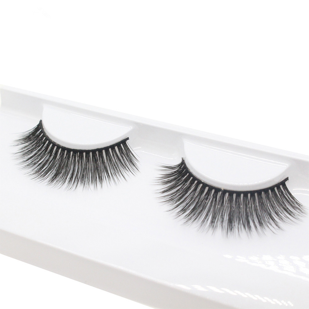 2017 1 Pairs Thick Long Cross Party False Eyelashes Black Band Natural Sparse Cross Fake Eye Lashes Extention Pestanas falsas