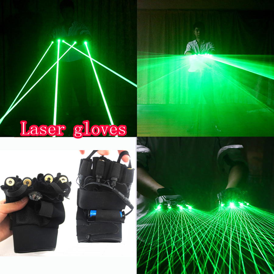 Laser Gloves Light Green Red Color Finger Lamps For DJ Club Stage Dance Party Live Show Decoration Night Light With palm LED novelty led laser gloves green red led bulb with battery dance show finger gloves laser for disco music party stage lighting