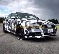 Arctic Camo Vinyl Sticker White Camouflage Sticker Bomb Car Wrapping Film For Vehicles Wraps Size:1.50*30m/Roll