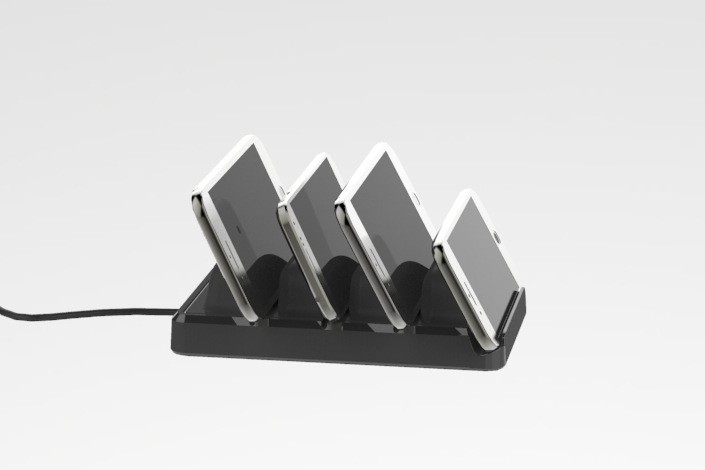 USB Charger 4-Port Charging Station