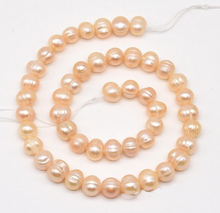 New Arriver Loose Pearl Jewellery,7.5-8.5mm Pink Color Genuine Freshwater Pearl Beads,Wholesale DIY Jewelry new arriver real pearl jewellery 48inches 4 16mm gray rice freshwater pearls smoke crystal beads necklace free shipping