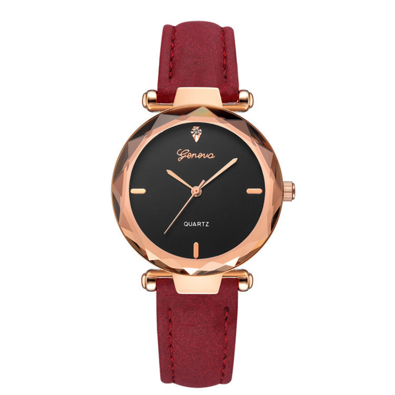 Geneva Brand Women's Watches Fashion Leather Wrist Watch Women Watches Ladies Watch Clock Mujer Bayan Kol Saati Montre Feminino
