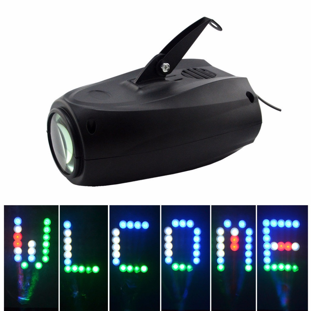 AUCD Mini Leds RGBW Lattice 64 Patterns Sound Projector Lights Disco Home Club Christmas Party DJ Show System Stage Lighting M03