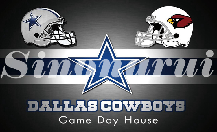 Home Dallas Cowboys Divided Arizona Cardinals Helmet 3*5FT Custom Flags Banners White Sleeve Gromets 90*150cm