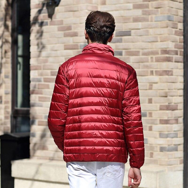 b4e03dbf0fd AIRGRACIAS двойной одежда Для мужчин s Пуховики на гусином пуху осенне  зимняя куртка Для мужчин легкий утка вниз куртка Для мужчин пальто для  мужчин купить ...