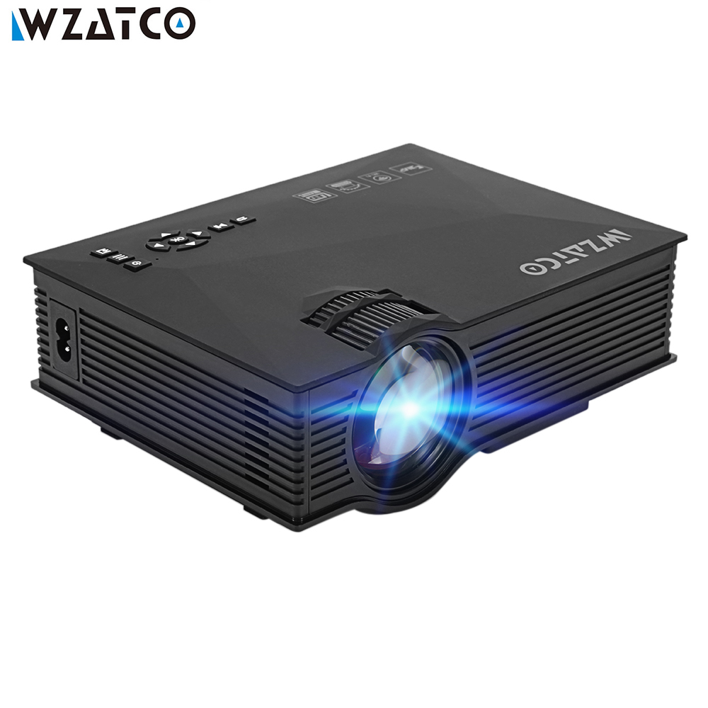 WZATCO UC46 Wifi Wireless Mirror Miracast 1200Lumen HD Digital Multimedia LED Mini Pocket Projector Proyector Projetor Beamer цена и фото