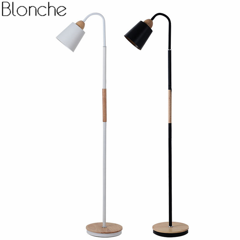Nordic Simple Floor Lamp Wooden Standing Light for Living Room Bedroom Adjustable Fixtures Bedside Study Lamp Home Deco Lighting modern led living room floor lamp wooden luminaire bedroom standing lamps nordic illumination home deco lighting fixtures