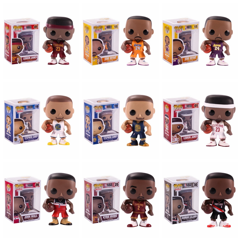 Basketball NBA Star James Kobe Stephen Curry Kyrie Irving John Wall Action Figure Collectible Model Toy For Fans Gifts