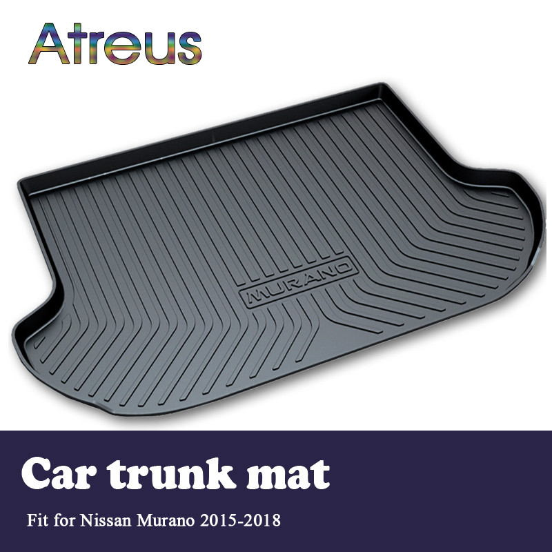 Atreus For 2015 Nissan Murano 2016 2017 2018 Accessories Car Rear Boot Liner Trunk Cargo Mat Tray Floor Carpet Pad Protector atreus for 2015 nissan murano 2016 2017 2018 accessories car rear boot liner trunk cargo mat tray floor carpet pad protector