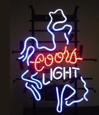Coors Light Cowboys Glass Neon Light Sign Beer Bar Custom Made