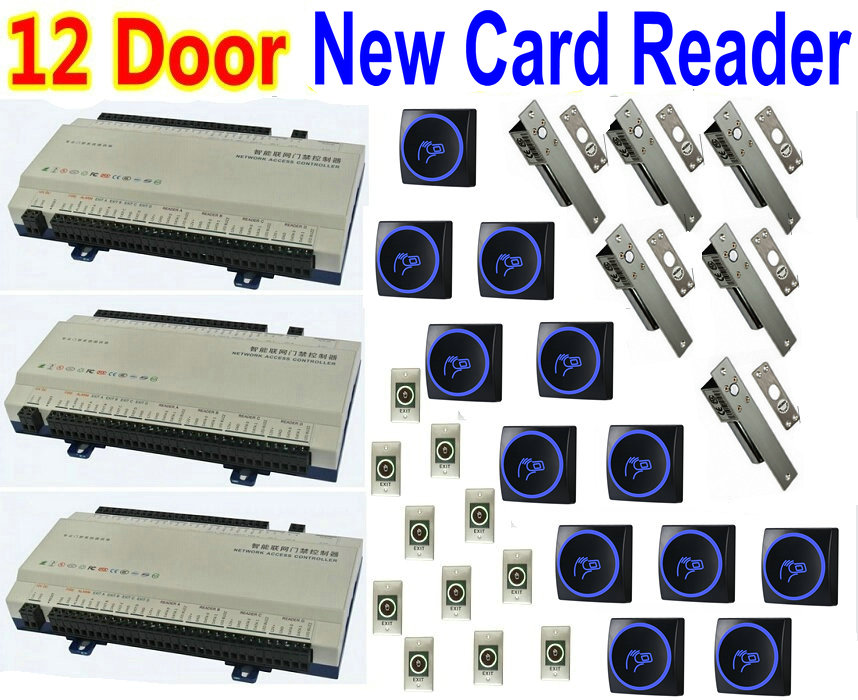 Sunny Free Shipping 125khz Rfid 2 Doors Access Control Systems For 2-ways Access Control Panel Free Software+2 Reader Security & Protection