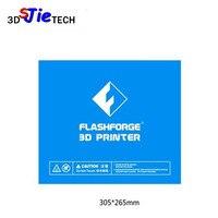 305x265mm azul cinta de cama térmica impresión de la placa de construcción para la impresora Flashforge Guider II 2S IIS 3D